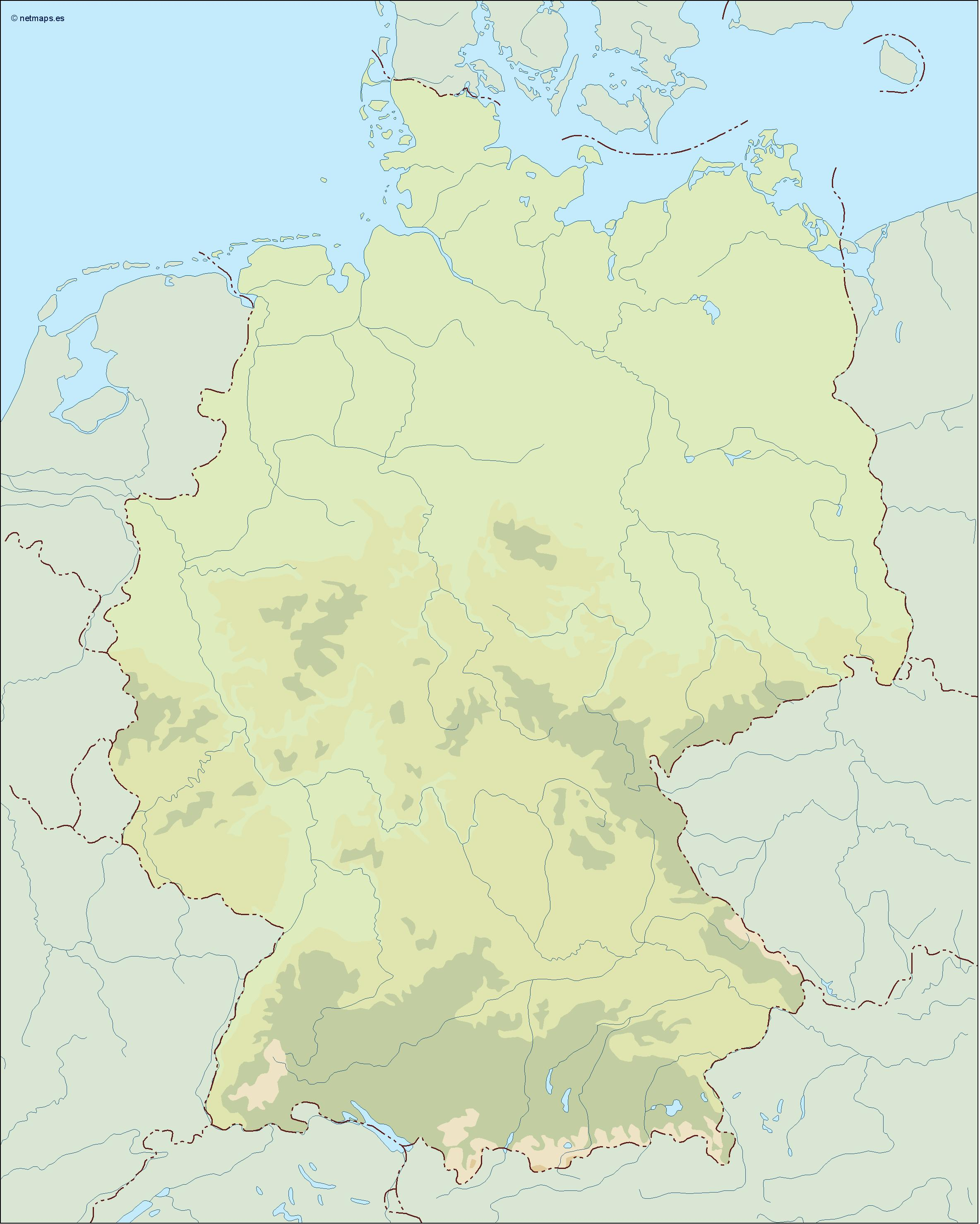 germany illustrator map