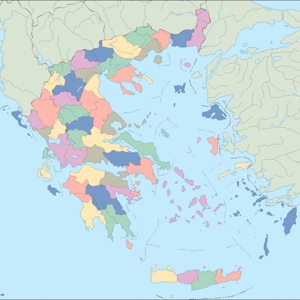 greece blind map