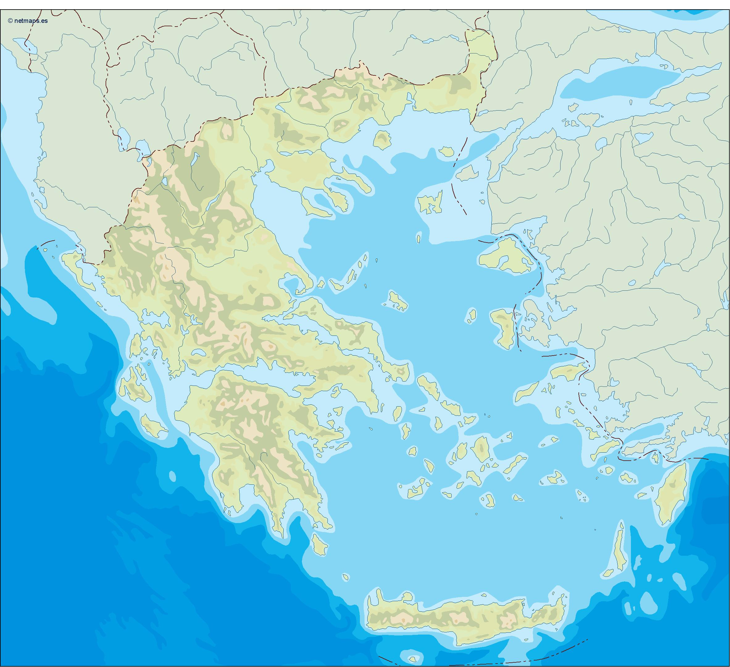 greece illustrator map