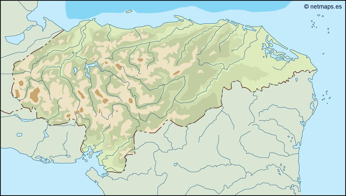 honduras illustrator map