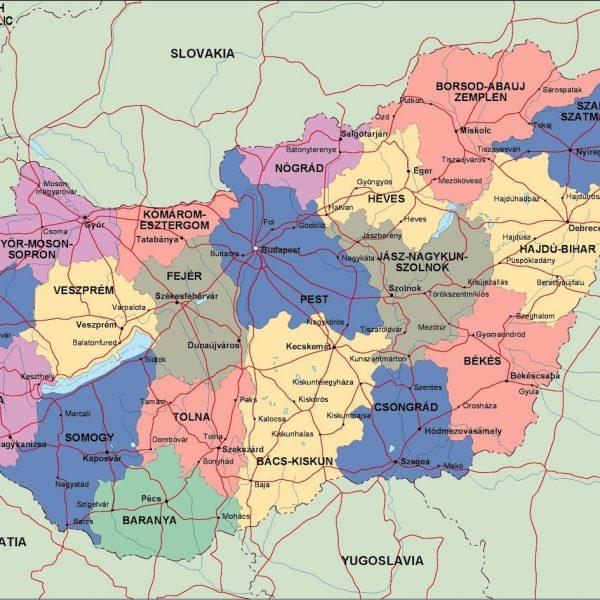 hungary political map