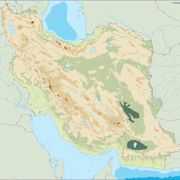 iran illustrator map