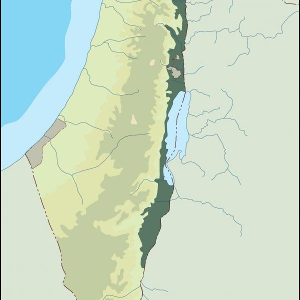 israel illustrator map