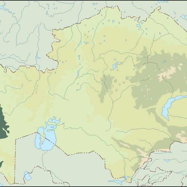 kazajstan illustrator map