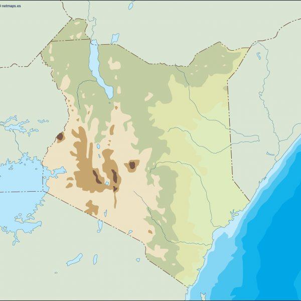 kenya illustrator map