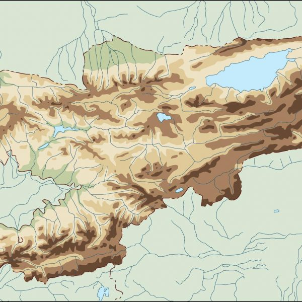 kirgizistan illustrator map