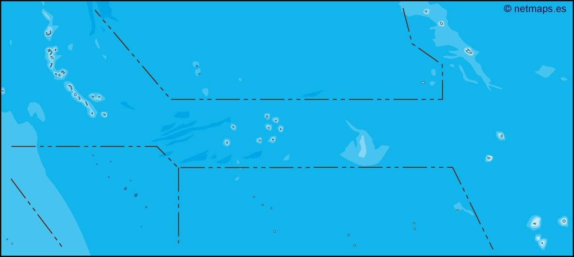 kiribati illustrator map