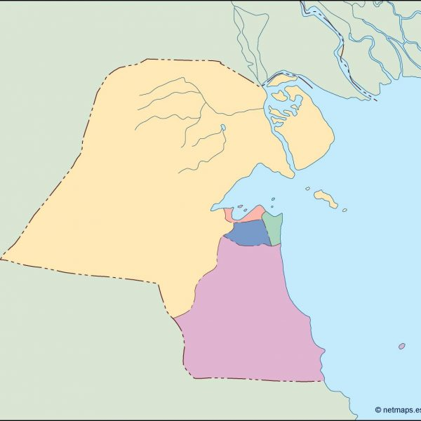 kuwait blind map