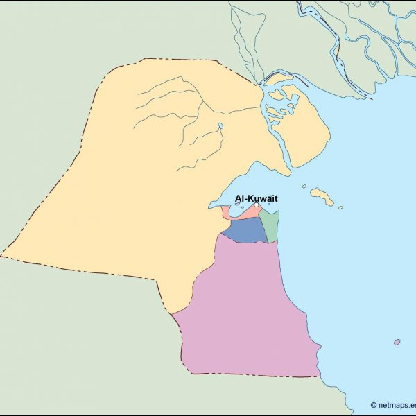 kuwait vector map