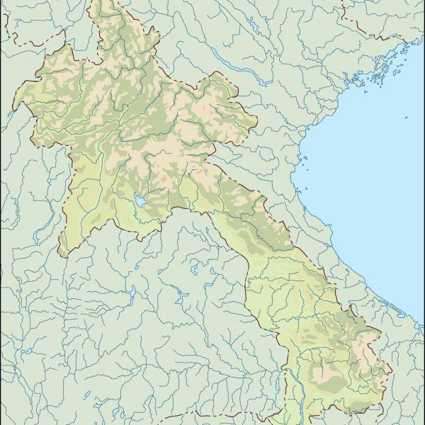 laos illustrator map