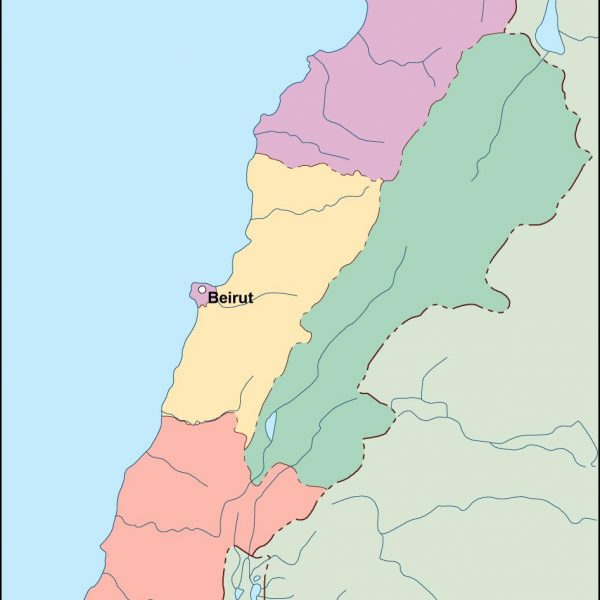 lebanon vector map
