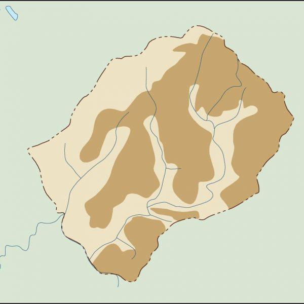 lesotho illustrator map