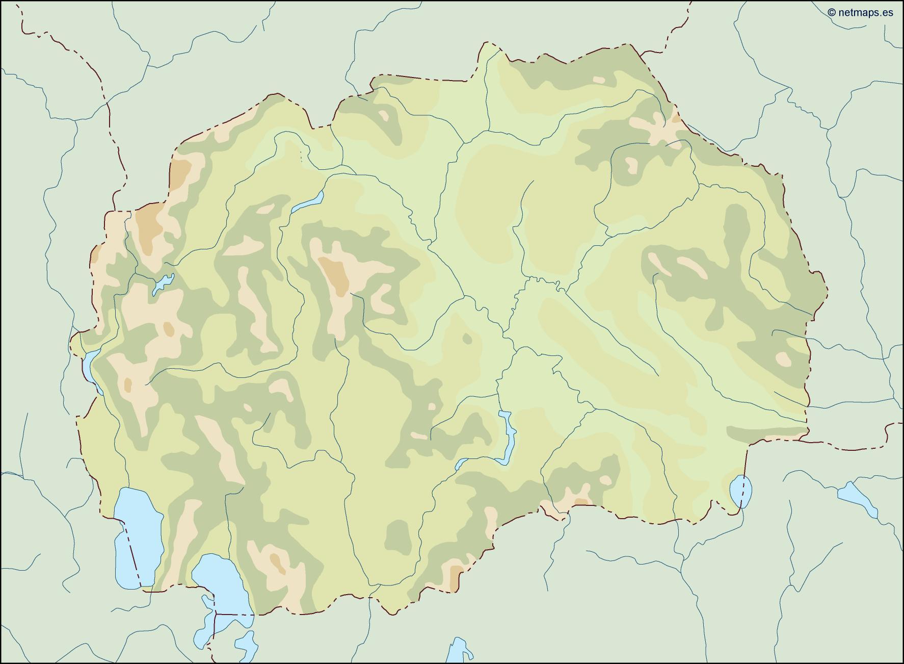 macedonia illustrator map