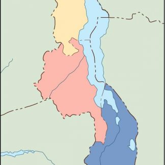 malawi blind map