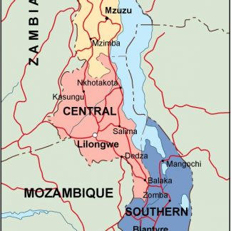 malawi political map
