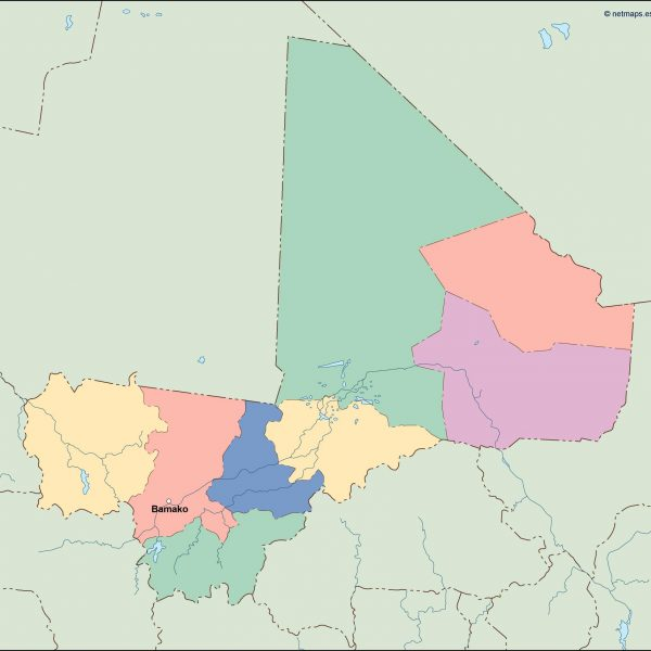 mali vector map