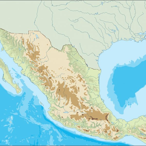 mexico illustrator map
