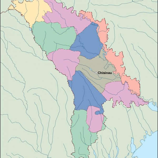 moldova vector map
