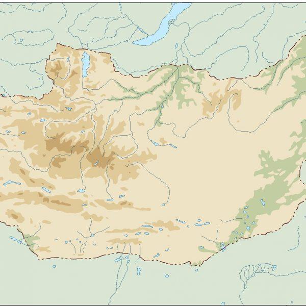 mongolia illustrator map