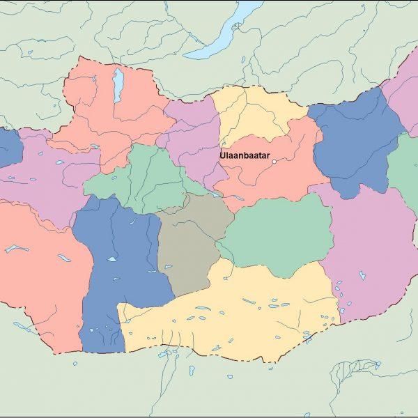 mongolia vector map