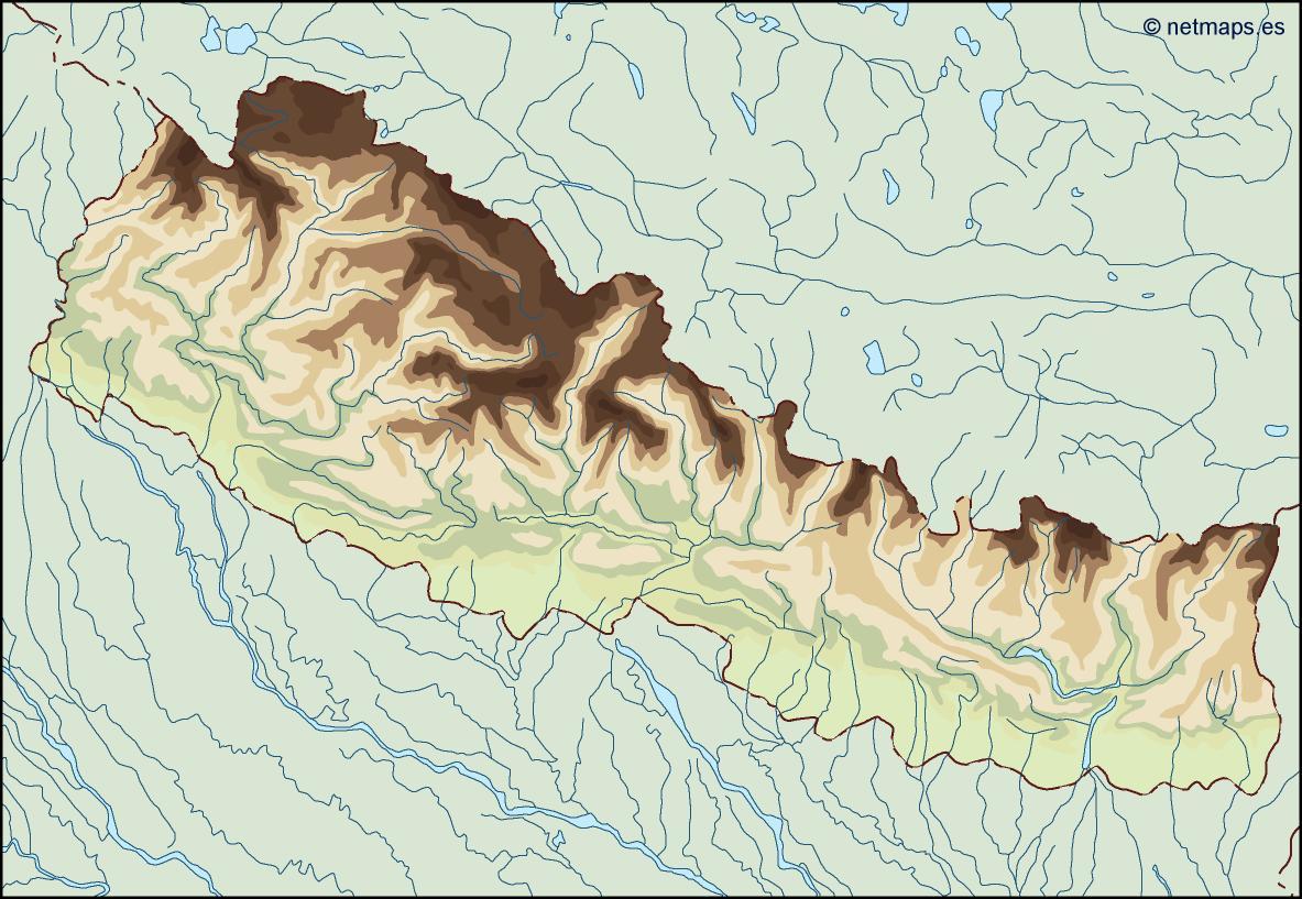 nepal illustrator map