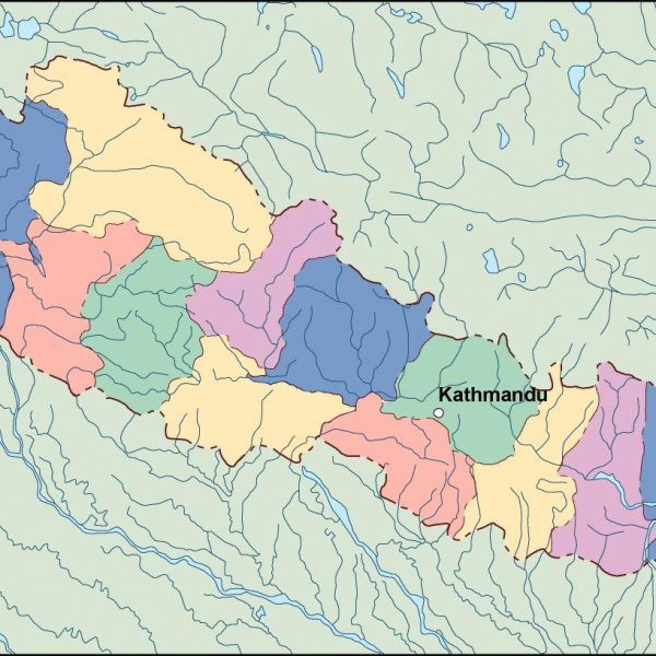 nepal vector map