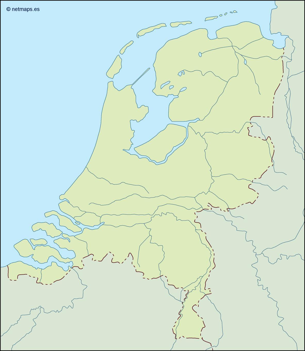 netherlands illustrator map
