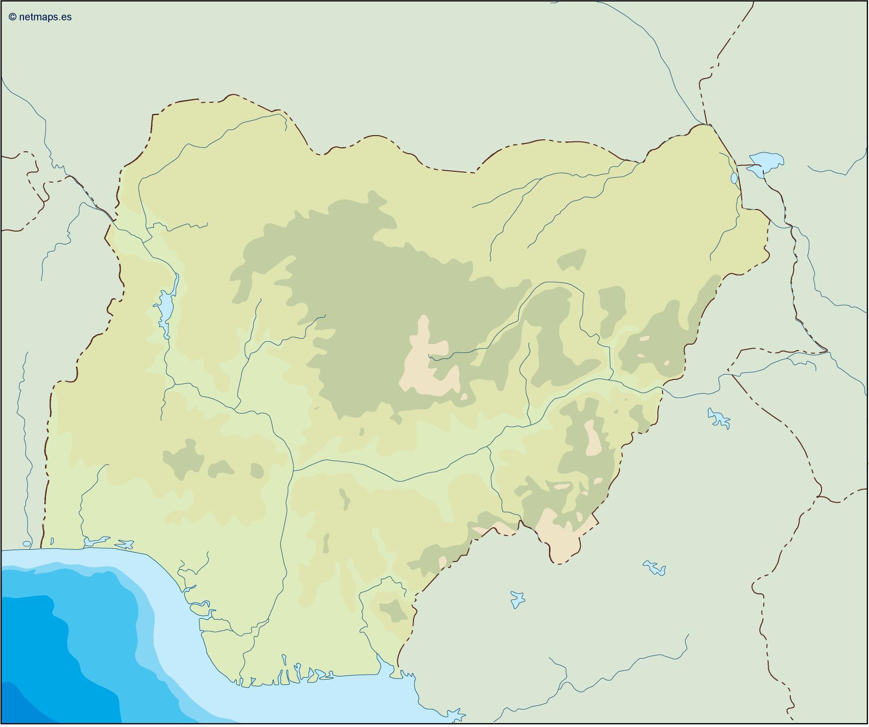 nigeria illustrator map
