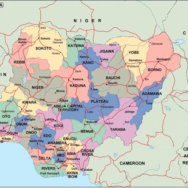 nigeria political map