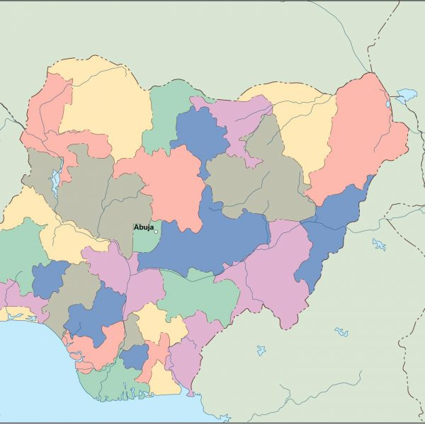 nigeria vector map