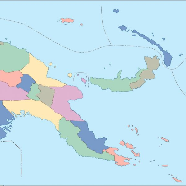 papua new guinea blind map