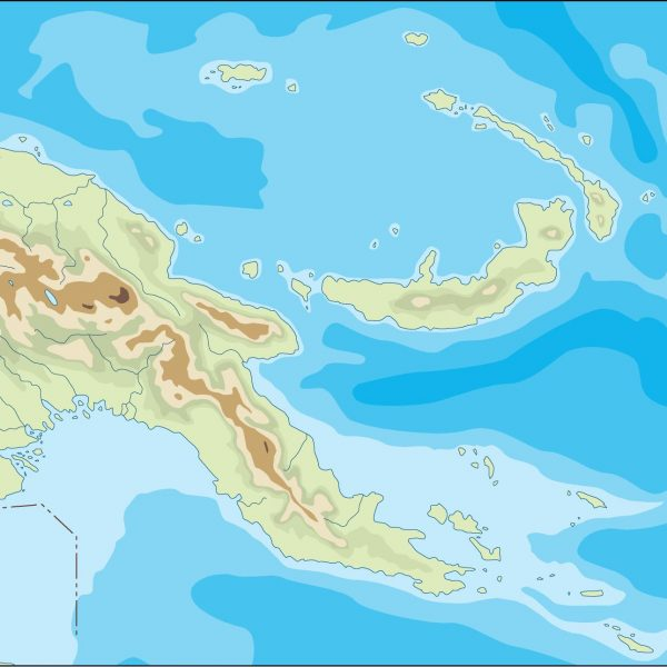papua new guinea illustrator map