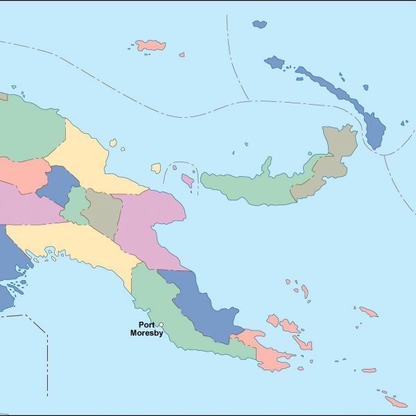 papua new guinea vector map