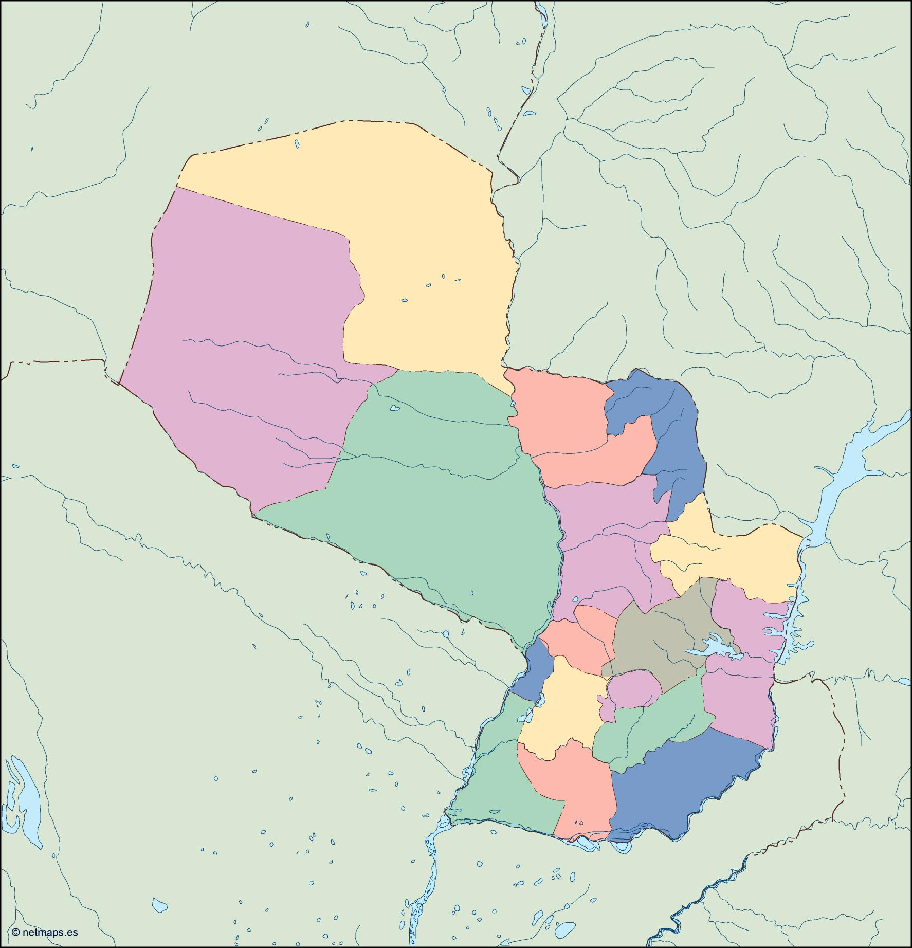 paraguay blind map