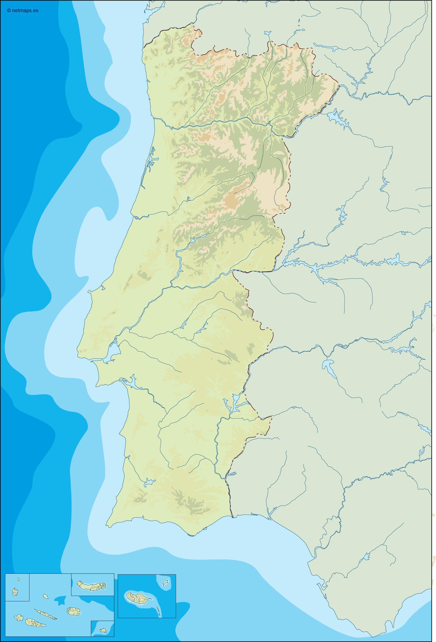 portugal illustrator map