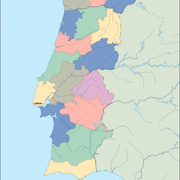 portugal vector map