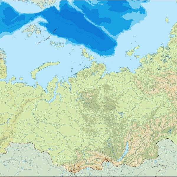 russia illustrator map