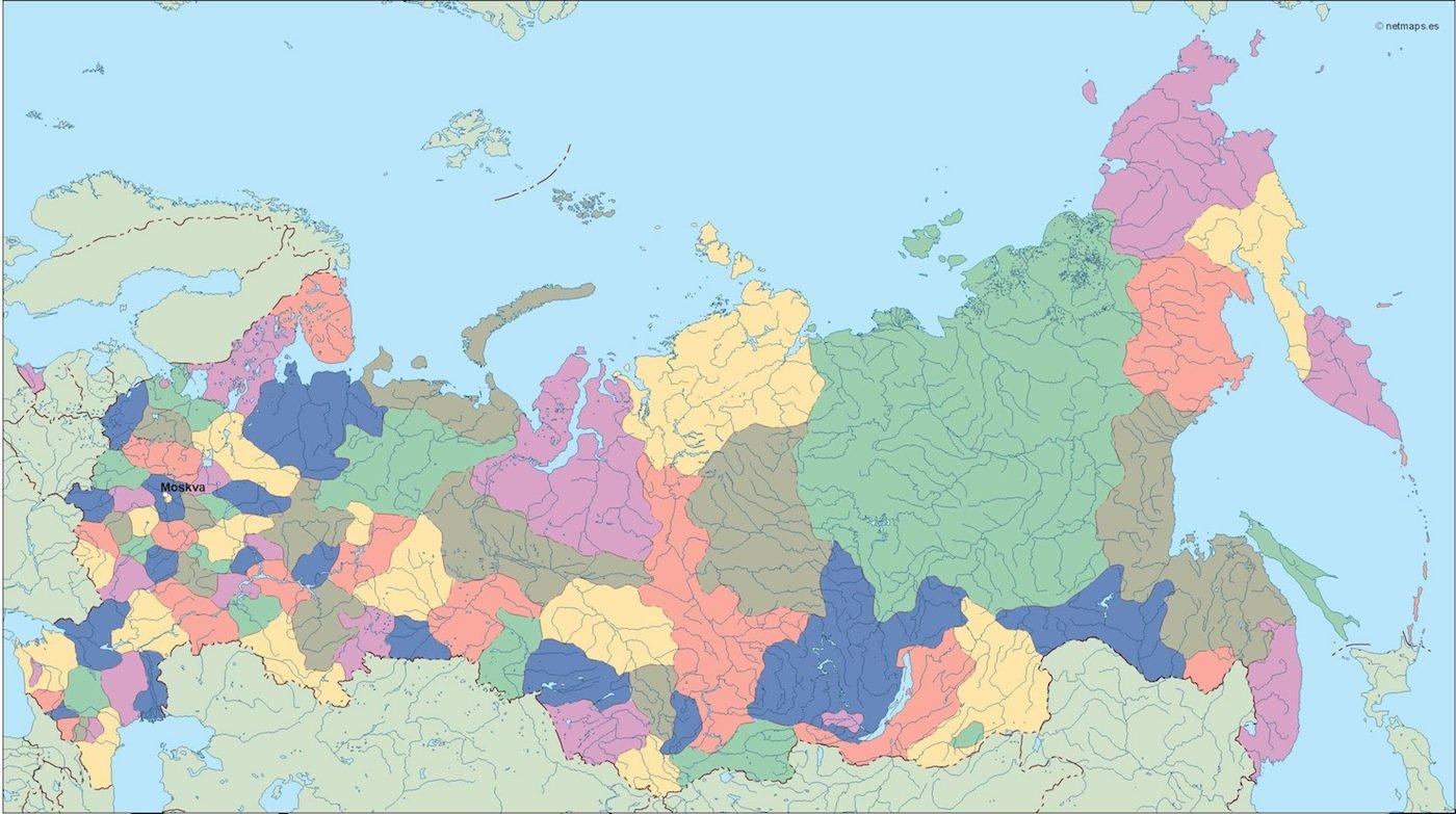 russia vector map