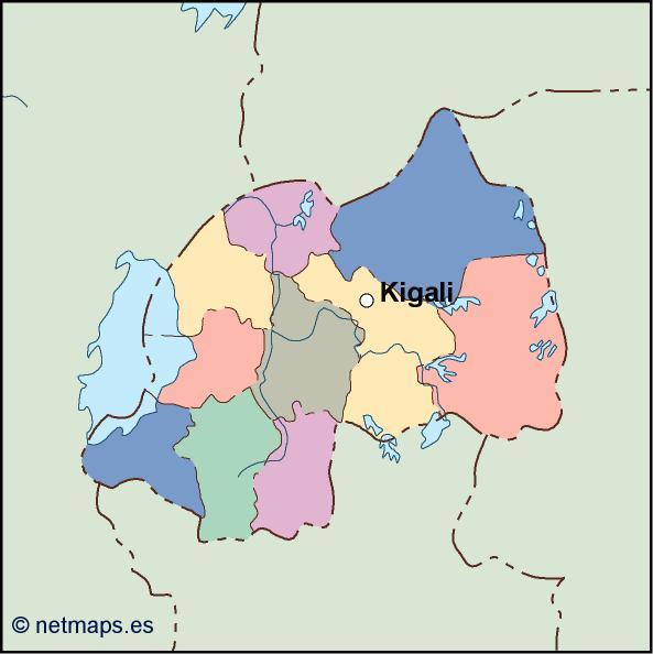 rwanda vector map