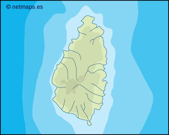 saint lucia illustrator map