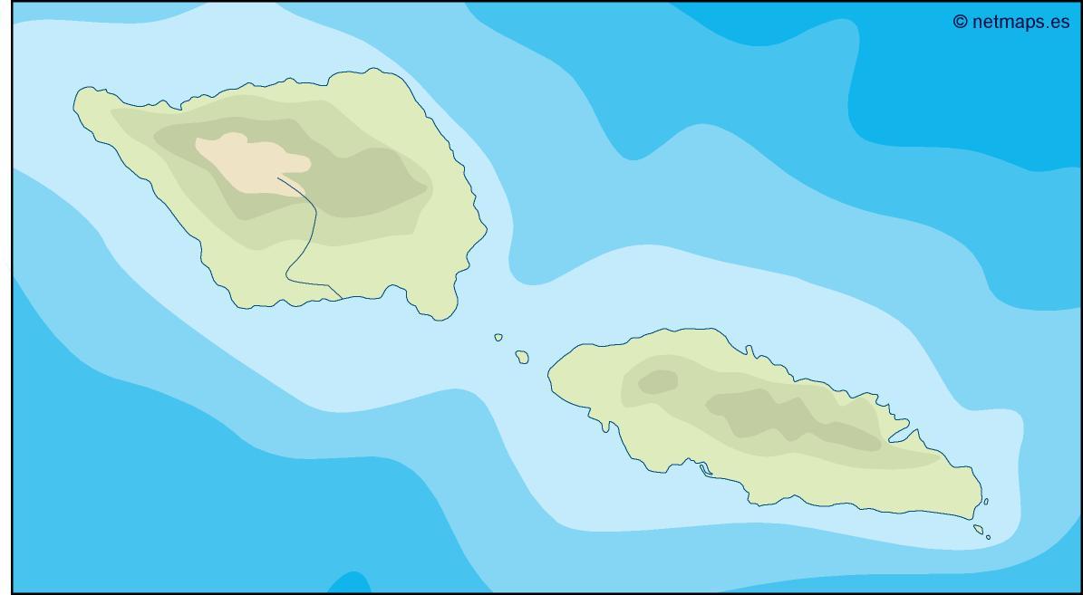 samoa illustrator map