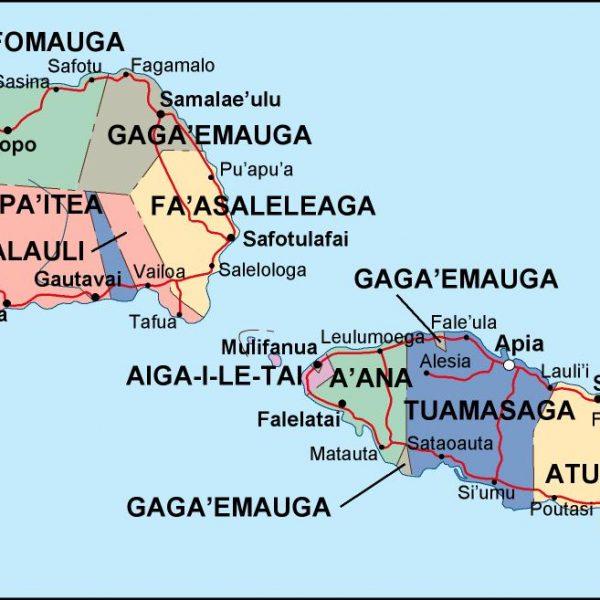 samoa political map