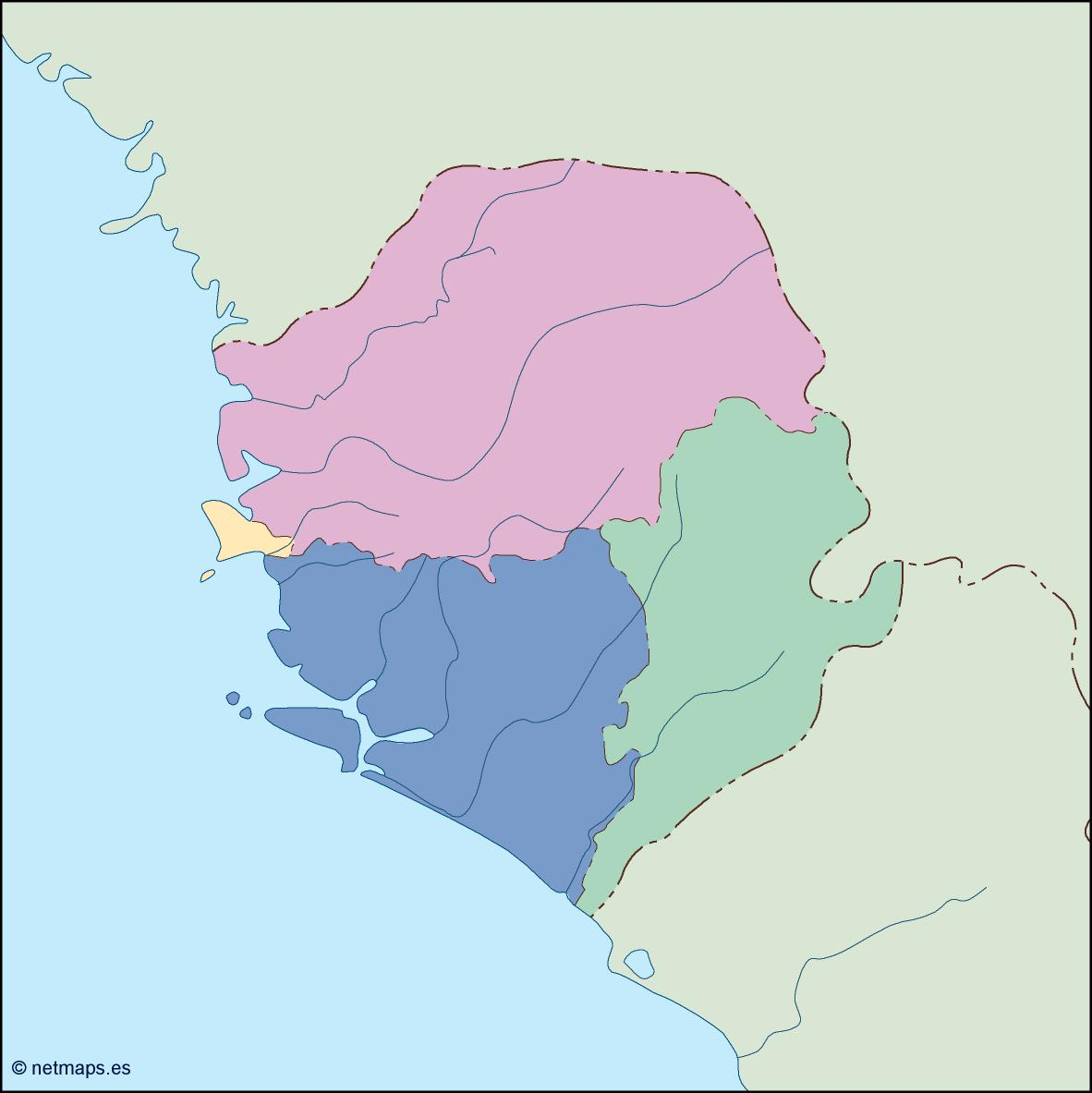 sierra leone blind map