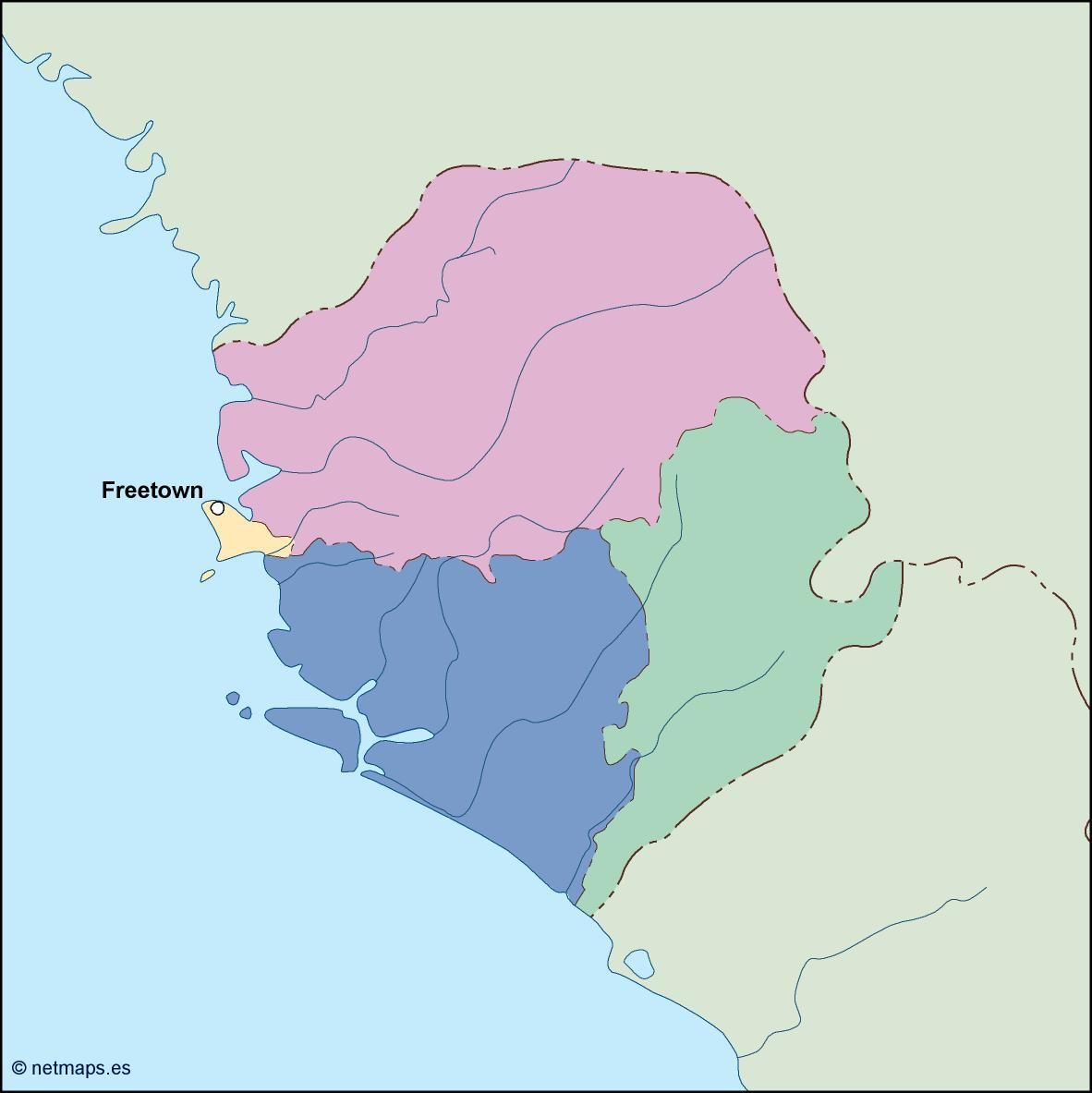 sierra leone vector map
