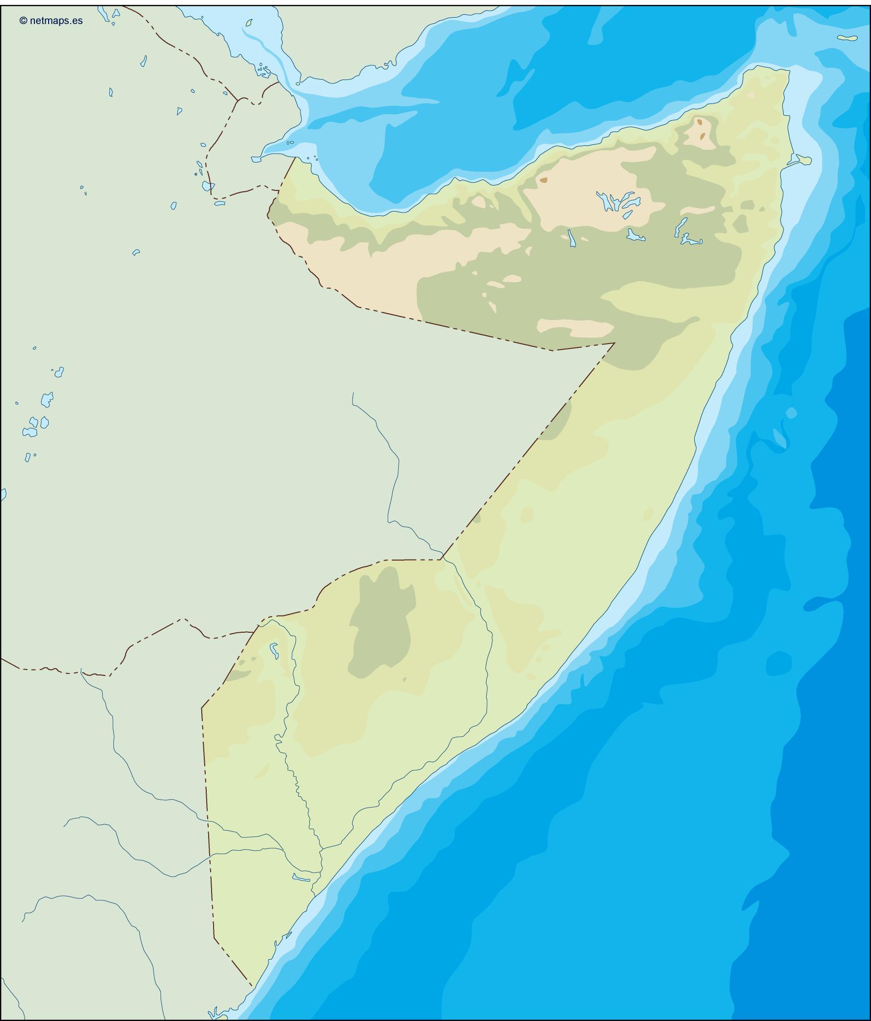 somalia illustrator map