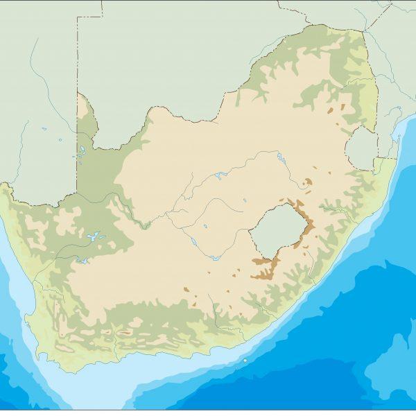 south africa illustrator map