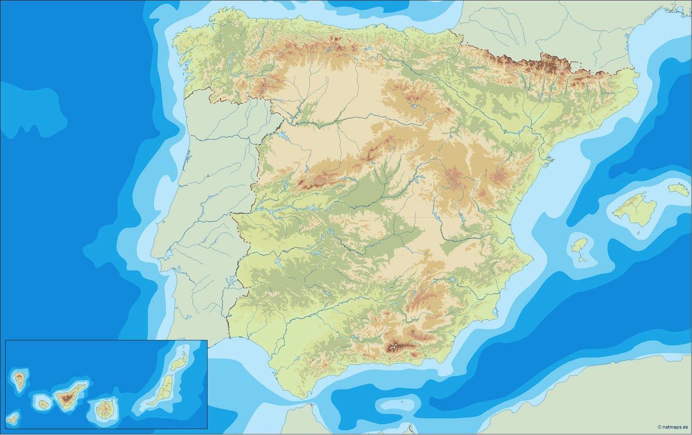 spain illustrator map