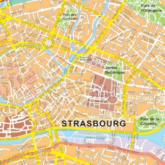 Strasbourg vector map
