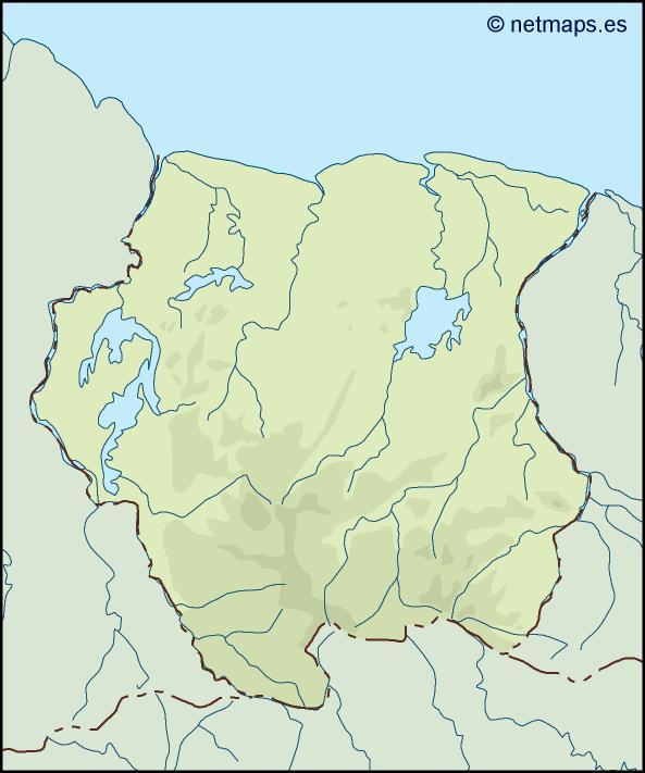 surinam illustrator map