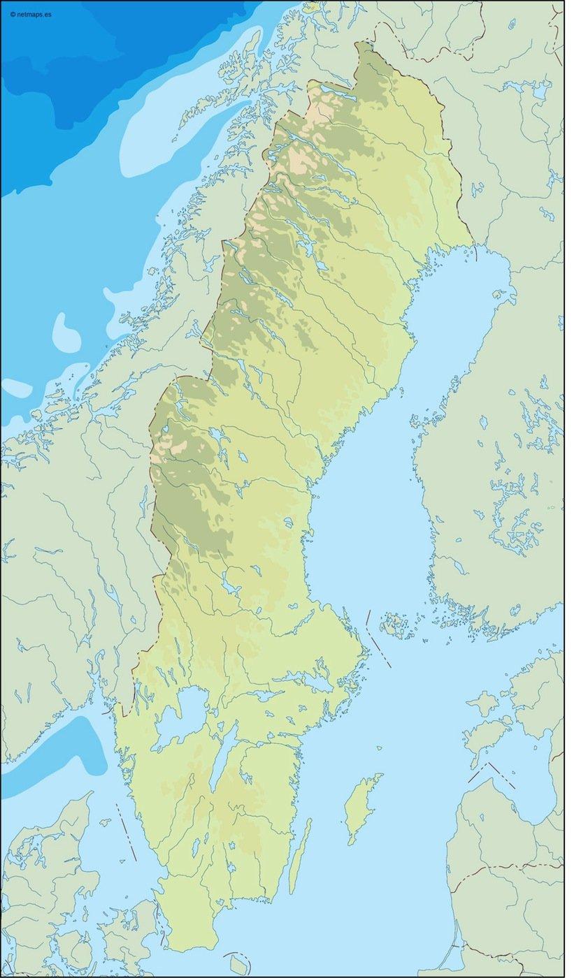 sweden illustrator map